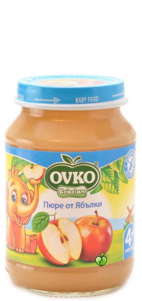 Овко Бебешко пюре /натурална ябълки + вит.С/ 4 м + 190 гр. 4232